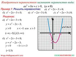 """Презентация """"Решение квадратных неравенств. Часть 1"""" слайд 2"""