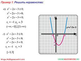 """Презентация """"Решение квадратных неравенств. Часть 1"""" слайд 3"""