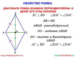 """Презентация """"Ромб и квадрат"""" слайд 3"""