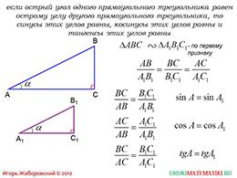 """Презентация """"Синус, косинус и тангенс острого угла прямоугольного треугольника"""" слайд 4"""
