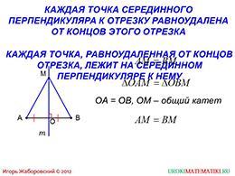 "Презентация ""Свойство биссектрисы угла и серединного перпендикуляра к отрезку"" слайд 6"
