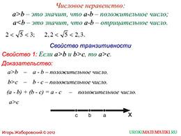 """Презентация """"Свойства числовых неравенств. Часть 1"""" слайд 2"""