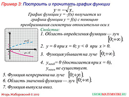 "Презентация ""Свойства функции y=√x"" слайд 10"