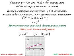 "Презентация ""Свойства функции y=√x"" слайд 6"