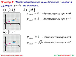 "Презентация ""Свойства функции y=√x"" слайд 7"