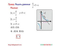 """Презентация """"Свойства функции y=k/x, при k<0"""" слайд 3"""