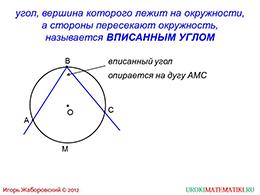 """Презентация """"Теорема о вписанном угле"""" слайд 2"""