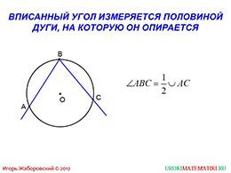 """Презентация """"Теорема о вписанном угле"""" слайд 3"""