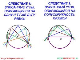 """Презентация """"Теорема о вписанном угле"""" слайд 7"""