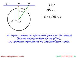"""Презентация """"Взаимное расположение прямой и окружности"""" слайд 5"""