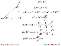 """Презентация """"Значение синуса, косинуса и тангенса для углов 30, 45 и 60 градусов"""" слайд 3"""