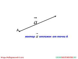 """Презентация """"Откладывание вектора от данной точки"""" слайд 2"""