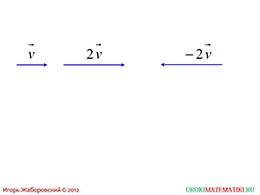 """Презентация """"Произведение вектора на число"""" слайд 2"""