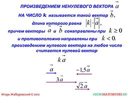 """Презентация """"Произведение вектора на число"""" слайд 3"""
