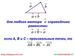 "Презентация ""Сумма двух векторов"" слайд 6"